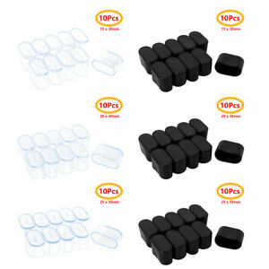 10Pc Chair Leg Caps Feet Pads Rubber Floor Protectors Oval Furniture Table Cover