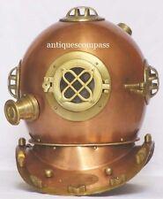 Steel & Aluminium Marine Nautical Deep Sea Diving Divers Helmet Brs Ehs