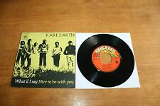 "Rare Earth / France 7""  Record / What'd I Say - Nice to be With You 1971"
