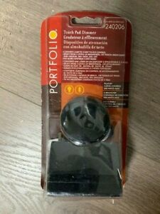 Portfolio Black Touch Lamp Control Touch Pad Dimmer NIP #240206