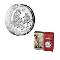2016 Australia Lunar Year Of Monkey High Relief Proof 1 oz Silver Coin