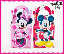 MICKEY MINNIE PARTY FAVOUR BOXES KIDS BIRTHDAY LOLLY BAGS SUPPLIES DECORATIONS
