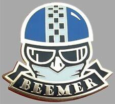 OLD SKOOL BMW MOTORCYCLE BEEMER CAFE RACER ACE ENAMEL PIN BADGE