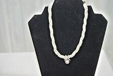 "Brand New Women's Pearl & Swarovski Crystal Triple String 16"" to 18"" Necklace"