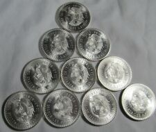 "New ListingMexico 1947 & 1948 Silver 5 Pesos ""Cuauhtemoc"" Lot of 10 Coins Au-Unc"