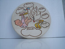 Geburtenteller incl Edler Zinnteller Taufteller,Taufgeschenk Babydaten Gravur