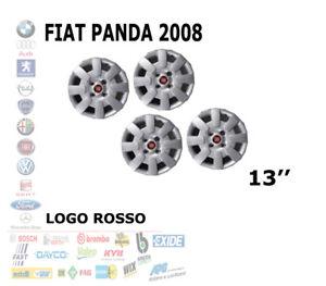 SET 4 KIT COPRICERCHI COPPA RUOTA FIAT PANDA 2008 RAGGIO 13 R13 13'' 1302