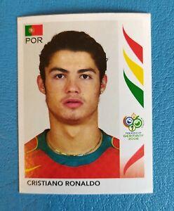 Cristiano Ronaldo 2006 Panini World Cup ROOKIE STICKER  #298 RARE