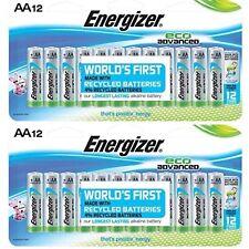 Energizer EcoAdvanced AA Batteries, Energizer's Longest-Lasting~12 Ct. ~Lot of 2
