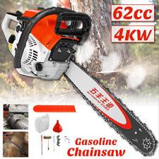 "20"" 4000W Bar Gas Chainsaw Powered Chain Saw 62cc 2-stroke Engine Aluminum NEW"