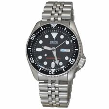 Seiko 5 Automatic 200m Divers Mens Watch Black Steel Chain Skx007k2 UK SELLER