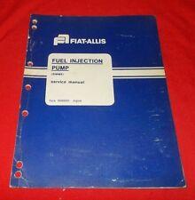 Fiat Allis Fuel Injection Pump (SIMMS) Service Manual  70685931