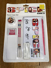 Spice Girls Pencil Case Set Girl Power official Merchandise Vintage eraser ruler