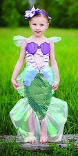 Great Pretenders Mermaid Costume & Flower Head Band Fancy Dress 5-6yrs Girl Gift
