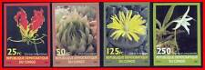 CONGO/ZAIRE 2001 TROPICAL FLOWERS imperforated MNH SC#1626-30 CV$15.00 (L3)