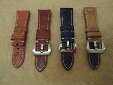26mm COLLECTION 4 100% GENUINE LEATHER WATCH STRAPS Panerai PAM Marina Militare