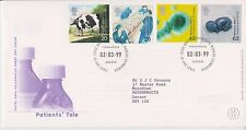 GB ROYAL MAIL FDC FIRST DAY COVER 1999 PATIENTS' TALE STAMP SET BUREAU PMK