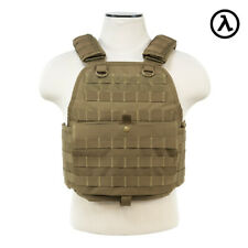 NCSTAR PLATE CARRIER VEST TACTICAL GEAR / TAN CVPCV2924T - [MED-2XL]