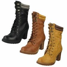 Mid-Calf Lace Up Boots Spotted for Women