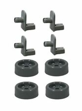 (4 Pack) Lower Rack Roller & Axle Compatible with GE Dishwasher WD12X10136