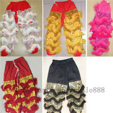 Chinese Folk Art Lion Dance Pants Adults Size Costume Wool Southern Lion Outfits