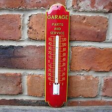 GARAGE ENAMEL THERMOMETER PARTS & SERVICE vintage old shed petrol oil VAC201