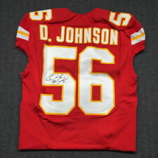 Derrick Johnson Signed Game Issued KC Chiefs Jersey NFL Auction PSA DNA