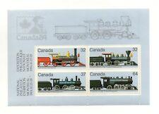 Canada 1984 Trains souvenir sheet Unitrade #1039d VFMNH CV $4.00