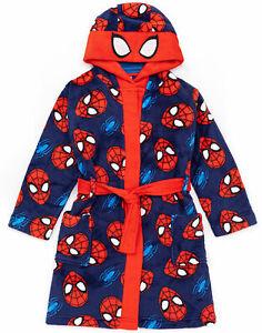 Marvel Spider-Man Dressing Gown Boys Kids Cosplay Pyjamas Robe