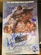 Star Wars Empire Strikes Back Signed Photo 12X18 Autograph Harrison Ford Bas Coa