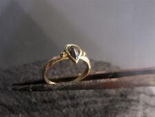 14K yellow gold ring set with pear shape 0.65ct Raw diamond stone.Handmade ring