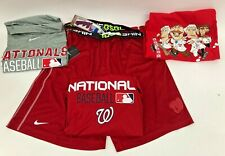 WASHINGTON NATIONALS NIKE APPAREL LOT T-SHIRTS/SHORTS (4) ADULT LARGE