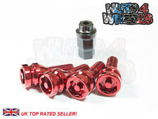 4 x Red Alloy Locking Wheel Bolts M14x1.5 fits Audi A7