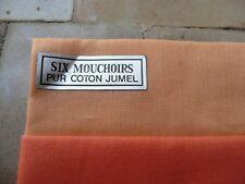 6 mouchoirs vintage en coton JUMEL
