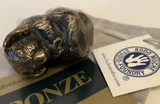 "2 1/4"" Bodo Muche Solid Cast Bronze Sleeping Koala Bear Sculpture Figurine"