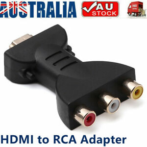 HDMI Male to 3 RCA Female Composite Audio Video Adapter Converter