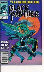COMIC BOOK  - BLACK PANTHER #4 OF 4 MINI SERIES OCT 1988 VF+ MARVEL COMICS L@@K!
