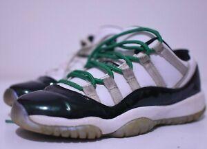 Nike Air Jordan 11 Retro Low Emerald Size 5.5y / 7 Womens White Black 528896 145