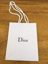 Christian DIOR White Textured Paper Gift Bag NEW