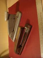 2 Vintage Swingline staplers 747 , and # 4 speed stapler