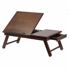 Portable Laptop Desk Lap Tray Bed Notebook Adjustable Foldable Table Stand Wood