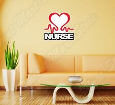 "Nurse Hospital RN LPN Health Medicine Wall Sticker Room Interior Decor 22""X22"""