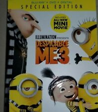 Despicable Me 3 Blu-ray/DVD/HD & Slipcover Special Edition Brand New Ships Free