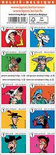 Carnet 10 timbres belge sur Lucky Luke et ses ennemis. Neuf**