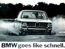 1970 BMW 2002 VTG ORIGINAL AD (full page magazine ad) picture/poster/print/1600