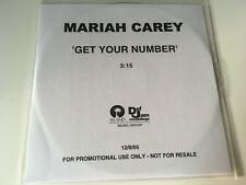 Mariah Carey 1trk PROMO CD Get Your Number