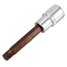 1/2-inch Drive 10mm Triple Square Spline Bit Extra Long Socket S2 Steel