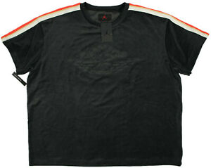 NIKE Air JORDAN velour Gold Chain Shirt- 3XL- NEW- thick black Jumpman SS Jacket