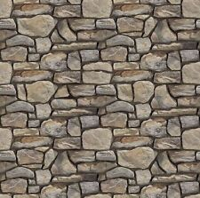 # 12  SHEETS  stone wall 21x29cm  1/6 SCALE EMBOSSED bumpy  paper landscape