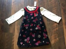 Size 18m NWT VELOUR 3 PIECE DRESS/SHIRT/BLOOMERS SET by THE CHILDREN'S PLACE